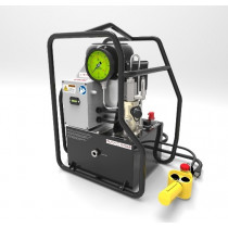 STRATUS Extreme Duty Electric Tensioner Pump Complete with  Roll Cage, Pendant and 1.5 gallon reservoir